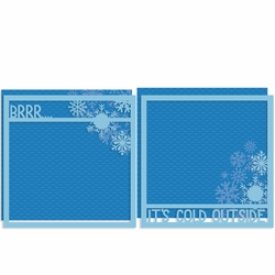 Brrr 12 x 12 Double Overlay Quick Page Laser Die Cut