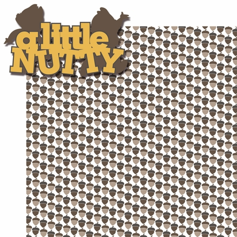 Buncha Character: A Little Nutty 2 Piece Laser Die Cut Kit