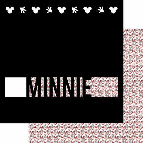 Buncha Character: Minnie 12 x 12 Overlay Quick Page Laser Die Cut
