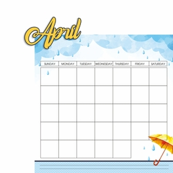 Calendar: April 2 Piece Laser Die Cut Kit