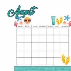 Calendar: August 2 Piece Laser Die Cut Kit