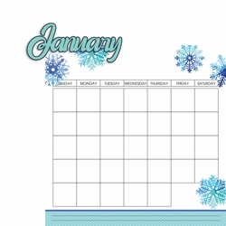 Calendar: January 2 Piece Laser Die Cut Kit
