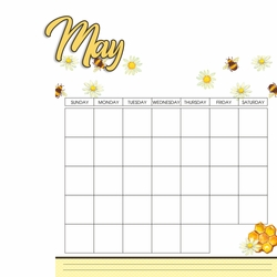 Calendar: May 2 Piece Laser Die Cut Kit