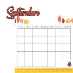 Calendar: September 2 Piece Laser Die Cut Kit