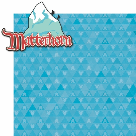 California Adventure: Matterhorn 2 Piece Laser Die Cut Kit