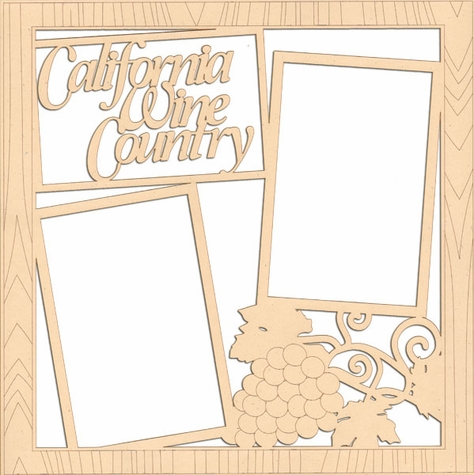 California Wine Country 12 x 12 Overlay Laser Die Cut