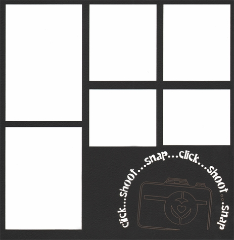 Camera: Click... Shoot... Snap 12 x 12 Overlay Laser Die Cut