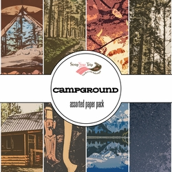 Campground Assorted 12 x 12 Paper Pack