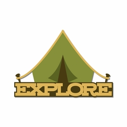 Campground: Explore Laser Die Cut