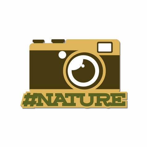 Campground: Tag Nature Laser Die Cut