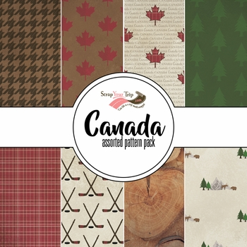Canada Assorted 12 x 12 Paper Pack