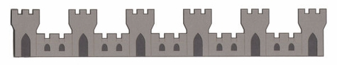 Castle Border Laser Die Cut