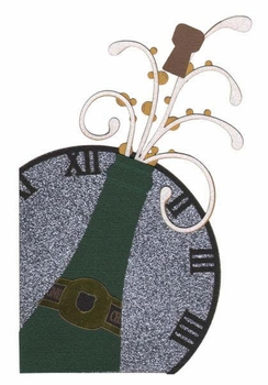 Champagne And Clock Laser Die Cut