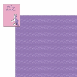 Character Signatures: Daisy Duck 2 Piece Laser Die Cut Kit