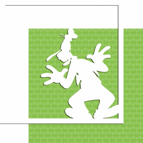 Characters: Goofy 12 x 12 Overlay Quick Page Laser Die Cut