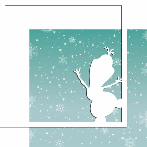 2SYT Characters: Snowman 12 x 12 Overlay Quick Page Laser Die Cut