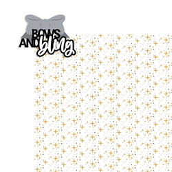 Cheer: Bows and Bling 2 Piece Laser Die Cut Kit