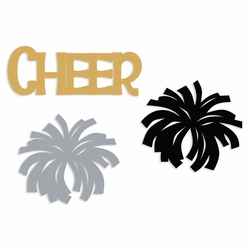 Cheer: Cheer and pom embellishment pack