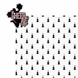 Cheer: Cheer Life 2 Piece Laser Die Cut Kit