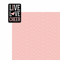 Cheer: Live Love Cheer 2 Piece Laser Die Cut Kit