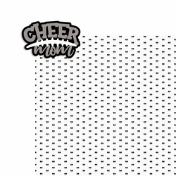 Cheer Mom 2 Piece Laser Die Cut Kit