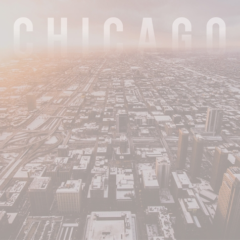 Chicago: Aerial View 12 x 12 Paper