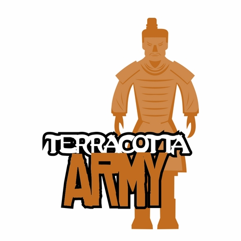 China: Teracotta Army Laser Die Cut