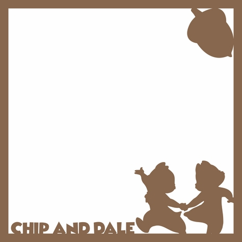 Chip and Dale 12 x 12 Overlay Laser Die Cut