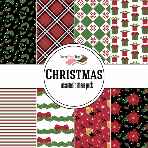 Christmas Assorted 12 x 12 Paper Pack