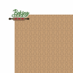 Christmas Baking: Baking Cookies 2 Piece Laser Die Cut Kit