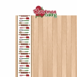 Christmas Baking: Christmas Baking 2 Piece Laser Die Cut Kit