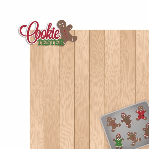 Christmas Baking: Cookie Tester 2 Piece Laser Die Cut Kit