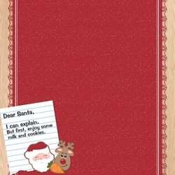 Christmas Baking: Dear Santa 12 x 12 Paper