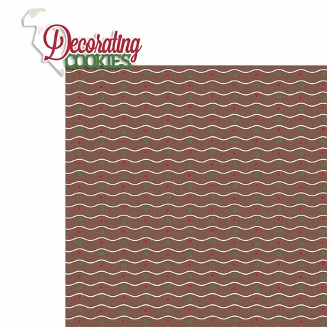 Christmas Baking: Decorating Cookies 2 Piece Laser Die Cut Kit