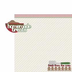 Christmas Baking: Homemade Treats 2 Piece Laser Die Cut Kit
