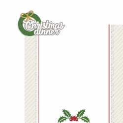 Christmas Cheer: Christmas Dinner 2 Piece Laser Die Cut Kit
