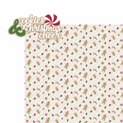 Christmas Cheer: Cookies and Christmas Cheer 2 Piece Laser Die Cut Kit