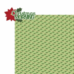 Christmas: Christmas Morning 2 Piece Laser Die Cut Kit
