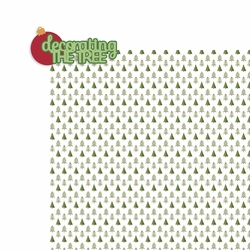 Christmas: Decorating the tree 2 Piece Laser Die Cut Kit