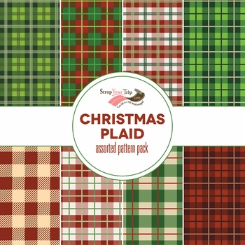 Christmas Plaid Assorted 12 x 12 Paper Pack