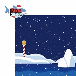 Christmas Songs: Santa Shark 2 Piece Laser Die Cut Kit