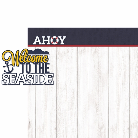 2SYT Coastal: Ahoy 2 Piece Laser Die Cut Kit