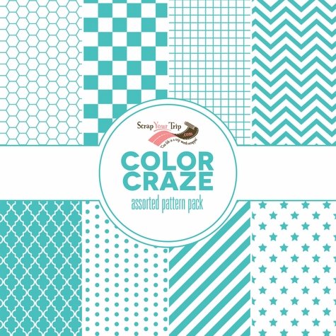 Color Craze Assorted Pattern Pack - Teal