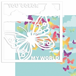 Color my World 12 x 12 Overlay Quick Page Laser Die Cut