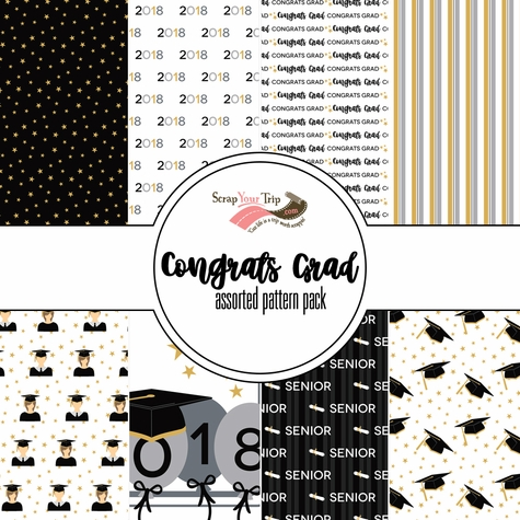 Congrats Grad Assorted 12 x 12 Paper Pack