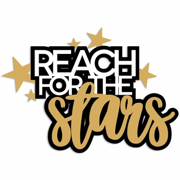 Congrats Grad: Reach for the Stars Laser Die Cut