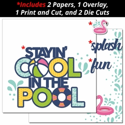 Cool in the Pool 2 Page Print and Cut Kit