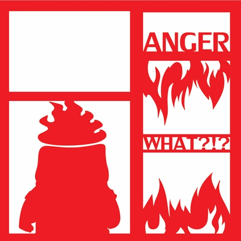 Costumes: Anger 12 x 12 Overlay Laser Die Cut
