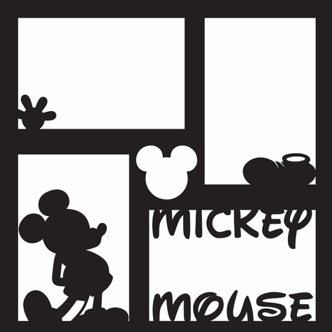 Costumes: Mickey 12 x 12 Overlay Laser Die Cut