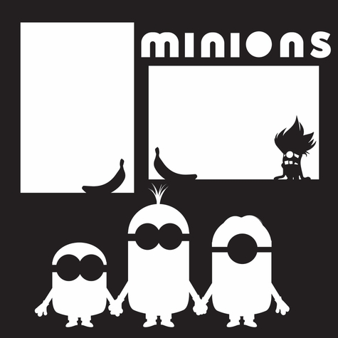 Costumes: Minions 12 x 12 Overlay Laser Die Cut